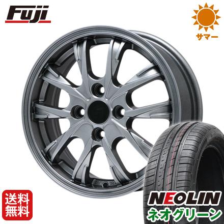 タイヤはフジ 送料無料 BRANDLE ブランドル 486 5.5J 5.50-15 NEOLIN ネオリン ネオグリーン(限定) 185/65R15 15インチ サマータイヤ ホイール4本セット