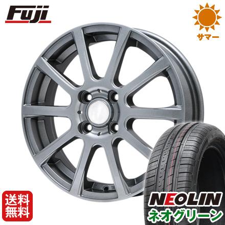 タイヤはフジ 送料無料 BRANDLE ブランドル 565T 4.5J 4.50-15 NEOLIN ネオリン ネオグリーン(限定) 165/50R15 15インチ サマータイヤ ホイール4本セット