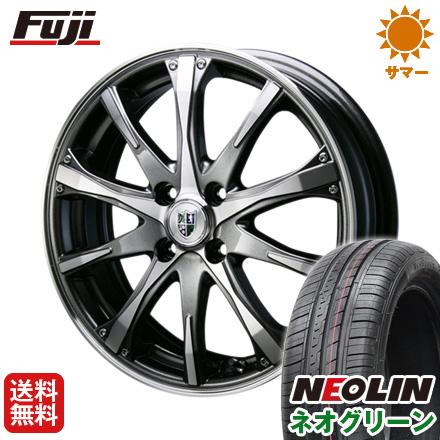 タイヤはフジ 送料無料 BLEST ブレスト バーンシュポルト タイプ504 5J 5.00-15 NEOLIN ネオリン ネオグリーン(限定) 165/55R15 15インチ サマータイヤ ホイール4本セット