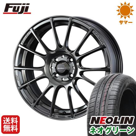 タイヤはフジ 送料無料 WEDS ウェッズスポーツ SA-72R 5J 5.00-15 NEOLIN ネオリン ネオグリーン(限定) 165/50R15 15インチ サマータイヤ ホイール4本セット