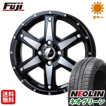 タイヤはフジ 送料無料 MKW MK-56 4.5J 4.50-15 NEOLIN ネオリン ネオグリーン(限定) 165/50R15 15インチ サマータイヤ ホイール4本セット