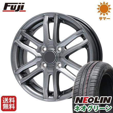 タイヤはフジ 送料無料 BRANDLE ブランドル G61 4.5J 4.50-15 NEOLIN ネオリン ネオグリーン(限定) 165/50R15 15インチ サマータイヤ ホイール4本セット