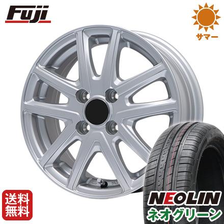タイヤはフジ 送料無料 BRANDLE ブランドル M61 4.5J 4.50-15 NEOLIN ネオリン ネオグリーン(限定) 165/50R15 15インチ サマータイヤ ホイール4本セット