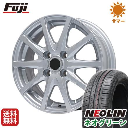 タイヤはフジ 送料無料 BRANDLE ブランドル M71 4.5J 4.50-14 NEOLIN ネオリン ネオグリーン(限定) 165/55R14 14インチ サマータイヤ ホイール4本セット