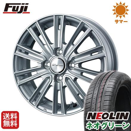 タイヤはフジ 送料無料 WEDS ウェッズ ジョーカー アイス 4.5J 4.50-14 NEOLIN ネオリン ネオグリーン(限定) 165/55R14 14インチ サマータイヤ ホイール4本セット