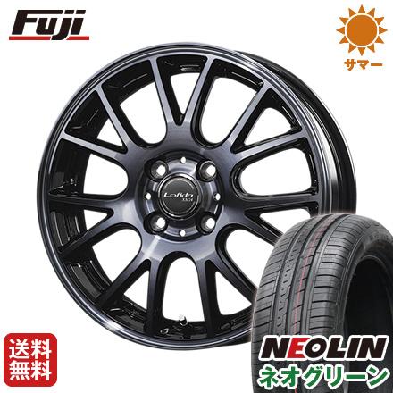 タイヤはフジ 送料無料 DUNLOP ダンロップ ロフィーダ XM14 5.5J 5.50-15 NEOLIN ネオリン ネオグリーン(限定) 175/65R15 15インチ サマータイヤ ホイール4本セット