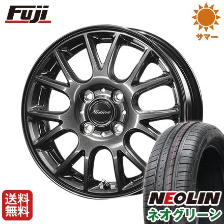 タイヤはフジ 送料無料 DUNLOP ダンロップ ミスティーレ RB14 4.5J 4.50-15 NEOLIN ネオリン ネオグリーン(限定) 165/50R15 15インチ サマータイヤ ホイール4本セット
