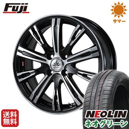 タイヤはフジ 送料無料 BLEST ブレスト バーンシュポルト タイプ525 5J 5.00-15 NEOLIN ネオリン ネオグリーン(限定) 165/50R15 15インチ サマータイヤ ホイール4本セット