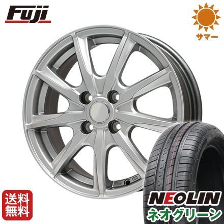 タイヤはフジ 送料無料 BRANDLE ブランドル E05 4.5J 4.50-14 NEOLIN ネオリン ネオグリーン(限定) 165/55R14 14インチ サマータイヤ ホイール4本セット