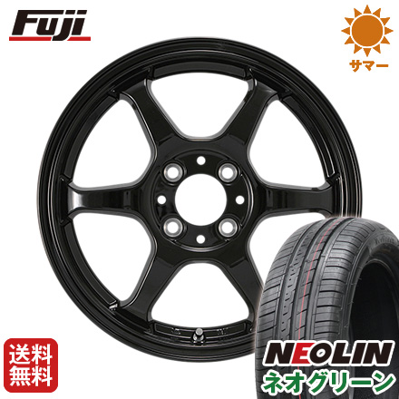 タイヤはフジ 送料無料 カジュアルセット タイプL 2. 5J 5.00-15 NEOLIN ネオリン ネオグリーン(限定) 165/50R15 15インチ サマータイヤ ホイール4本セット