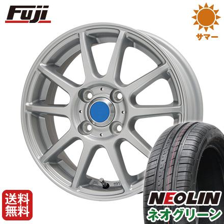 タイヤはフジ 送料無料 BRANDLE ブランドル 302 4.5J 4.50-15 NEOLIN ネオリン ネオグリーン(限定) 165/50R15 15インチ サマータイヤ ホイール4本セット