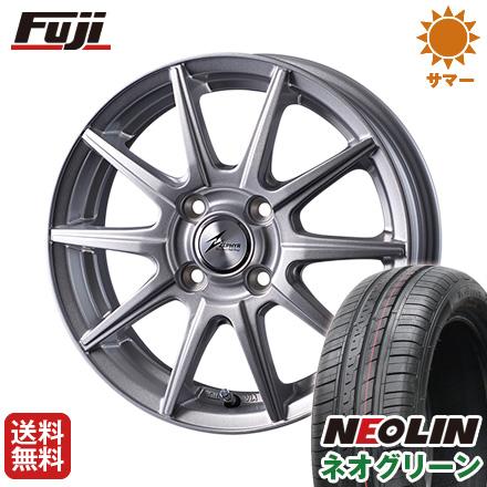 タイヤはフジ 送料無料 INTER MILANO インターミラノ ゼファー SR10J 5.5J 5.50-14 NEOLIN ネオリン ネオグリーン(限定) 175/65R14 14インチ サマータイヤ ホイール4本セット