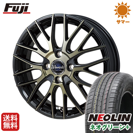 タイヤはフジ 送料無料 MONZA モンツァ ワーウィック エンプレス メッシュ 6J 6.00-16 NEOLIN ネオリン ネオグリーン プラス(限定) 195/55R16 16インチ サマータイヤ ホイール4本セット