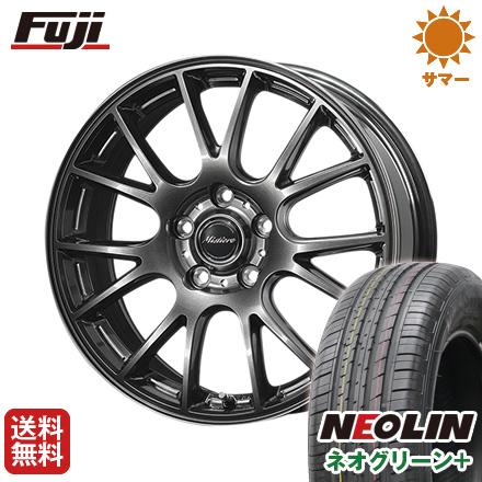 タイヤはフジ 送料無料 DUNLOP ダンロップ ミスティーレ RB14 6.5J 6.50-16 NEOLIN ネオリン ネオグリーン プラス(限定) 195/55R16 16インチ サマータイヤ ホイール4本セット
