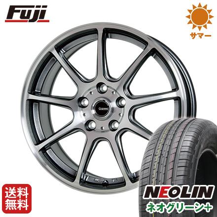 タイヤはフジ 送料無料 HOT STUFF ホットスタッフ ジースピード P-01 6.5J 6.50-16 NEOLIN ネオリン ネオグリーン プラス(限定) 215/60R16 16インチ サマータイヤ ホイール4本セット