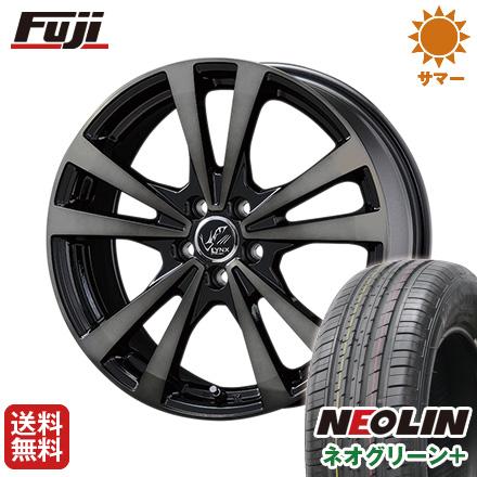 タイヤはフジ 送料無料 KOSEI コーセイ プラウザー リンクスBC 6.5J 6.50-16 NEOLIN ネオリン ネオグリーン プラス(限定) 215/60R16 16インチ サマータイヤ ホイール4本セット