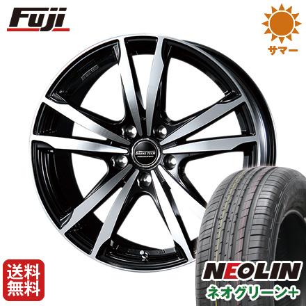215/60R16 ブレスト NEOLIN ネオリン 6.50-16 16インチ ネオグリーン サマータイヤ 6.5J タイヤはフジ ジゼリスFVP 送料無料 プラス(限定) ホイール4本セット BLEST バーンズテック