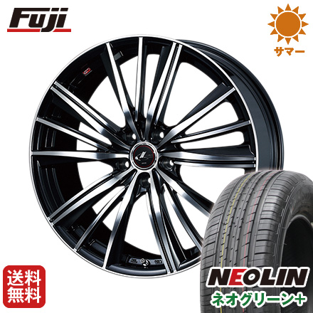 タイヤはフジ 送料無料 WEDS ウェッズ レオニス FY 6.5J 6.50-16 NEOLIN ネオリン ネオグリーン プラス(限定) 205/60R16 16インチ サマータイヤ ホイール4本セット
