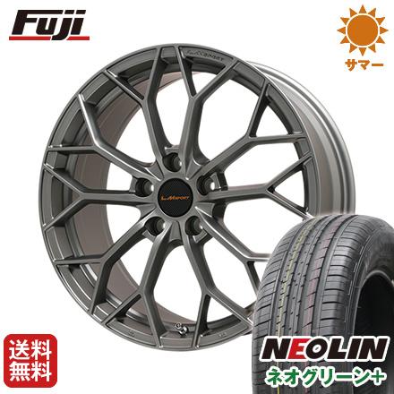 タイヤはフジ 送料無料 LEHRMEISTER レアマイスター LMスポーツLM-55M (マットガンメタ) 7J 7.00-16 NEOLIN ネオリン ネオグリーン プラス(限定) 205/60R16 16インチ サマータイヤ ホイール4本セット
