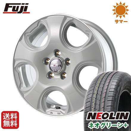 タイヤはフジ 送料無料 MID モッシュキャット 6J 6.00-15 NEOLIN ネオリン ネオグリーン プラス(限定) 195/65R15 15インチ サマータイヤ ホイール4本セット