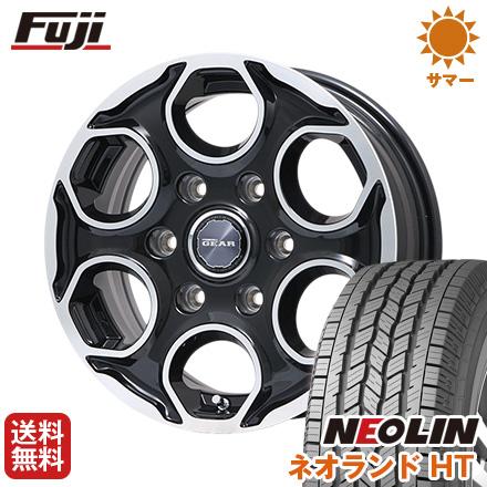 タイヤはフジ 送料無料 PREMIX プレミックス ギア(パールブラックポリッシュ) 7.5J 7.50-17 NEOLIN ネオリン ネオランド HT(限定) 265/65R17 17インチ サマータイヤ ホイール4本セット