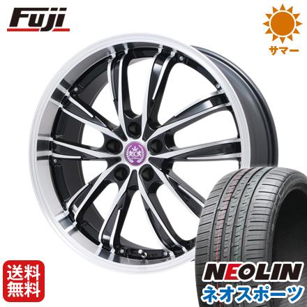 タイヤはフジ 送料無料 LEHRMEISTER レアマイスター ソライアV5 8.5J 8.50-20 NEOLIN ネオリン ネオスポーツ(限定) 245/35R20 20インチ サマータイヤ ホイール4本セット