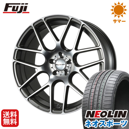 タイヤはフジ 送料無料 MLJ ハイペリオン CVM 8.5J 8.50-20 NEOLIN ネオリン ネオスポーツ(限定) 245/45R20 20インチ サマータイヤ ホイール4本セット