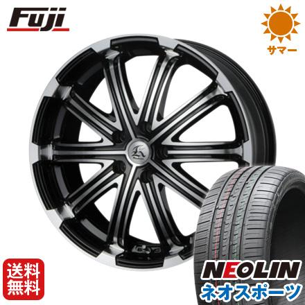 タイヤはフジ 送料無料 TECHNOPIA テクノピア カシーナ V-1 8.5J 8.50-20 NEOLIN ネオリン ネオスポーツ(限定) 245/45R20 20インチ サマータイヤ ホイール4本セット