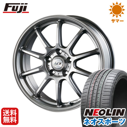 タイヤはフジ 送料無料 INTER MILANO インターミラノ LCZ 010 7J 7.00-17 NEOLIN ネオリン ネオスポーツ(限定) 225/55R17 17インチ サマータイヤ ホイール4本セット