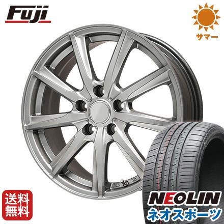 タイヤはフジ 送料無料 BRANDLE ブランドル E05 7J 7.00-17 NEOLIN ネオリン ネオスポーツ(限定) 215/45R17 17インチ サマータイヤ ホイール4本セット