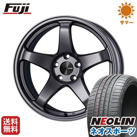 大注目 タイヤはフジ 送料無料 ENKEI エンケイ PF05 7.5J 7.50-17 NEOLIN ネオリン ネオスポーツ(限定) 215/45R17 17インチ サマータイヤ ホイール4本セット, ネットサプライ 7adf5f23
