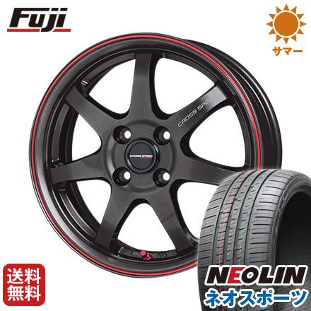タイヤはフジ 送料無料 HOT STUFF ホットスタッフ クロススピード ハイパーエディションCR-7 7J 7.00-17 NEOLIN ネオリン ネオスポーツ(限定) 215/45R17 17インチ サマータイヤ ホイール4本セット