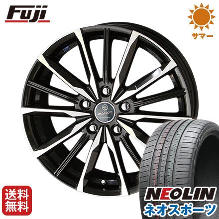 タイヤはフジ 送料無料 KYOHO 共豊 スマック プライム ヴァルキリー 7J 7.00-18 NEOLIN ネオリン ネオスポーツ(限定) 215/40R18 18インチ サマータイヤ ホイール4本セット