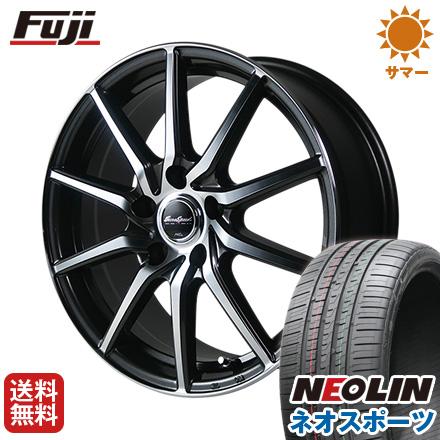 タイヤはフジ 送料無料 MID ユーロスピード S810 7J 7.00-17 NEOLIN ネオリン ネオスポーツ(限定) 215/45R17 17インチ サマータイヤ ホイール4本セット