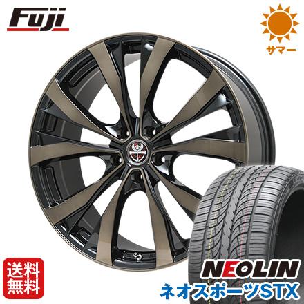 タイヤはフジ 送料無料 PREMIX プレミックス サッシカイア(ブロンズクリア) 8.5J 8.50-20 NEOLIN ネオリン ネオスポーツ STX(限定) 245/40R20 20インチ サマータイヤ ホイール4本セット