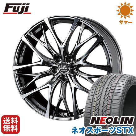 タイヤはフジ 送料無料 WEDS ウェッズ クレンツェ ウィーバル 100EVO 8.5J 8.50-20 NEOLIN ネオリン ネオスポーツ STX(限定) 245/40R20 20インチ サマータイヤ ホイール4本セット