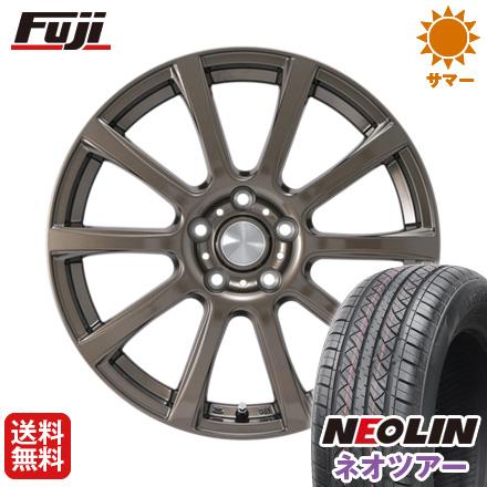 タイヤはフジ 送料無料 カジュアルセット タイプB17 ブロンズ 7J 7.00-17 NEOLIN ネオリン ネオツアー(限定) 215/50R17 17インチ サマータイヤ ホイール4本セット