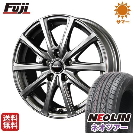 タイヤはフジ 送料無料 MID ユーロスピード V25 6.5J 6.50-16 NEOLIN ネオリン ネオツアー(限定) 215/65R16 16インチ サマータイヤ ホイール4本セット