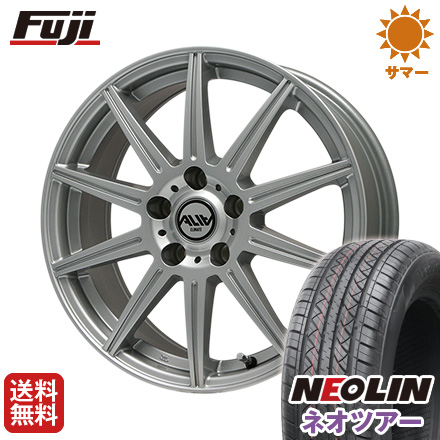 タイヤはフジ 送料無料 CLIMATE クライメイト アリア 7J 7.00-17 NEOLIN ネオリン ネオツアー(限定) 215/50R17 17インチ サマータイヤ ホイール4本セット