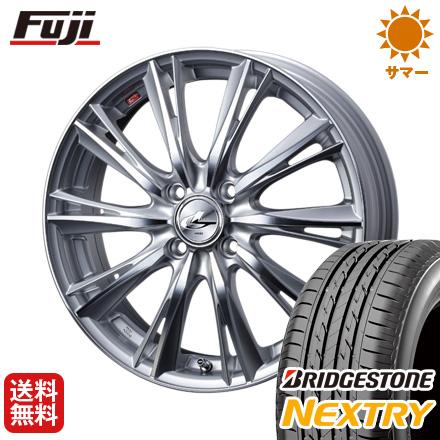 タイヤはフジ 送料無料 WEDS ウェッズ レオニス WX 4.5J 4.50-15 BRIDGESTONE ブリヂストン NEXTRY ネクストリー(限定) 165/50R15 15インチ サマータイヤ ホイール4本セット