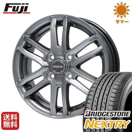 タイヤはフジ 送料無料 BRANDLE ブランドル G61 4J 4.00-13 BRIDGESTONE ブリヂストン NEXTRY ネクストリー(限定) 145/80R13 13インチ サマータイヤ ホイール4本セット