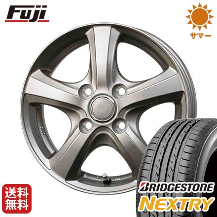 タイヤはフジ 送料無料 BRANDLE ブランドル F5 4J 4.00-13 BRIDGESTONE ブリヂストン NEXTRY ネクストリー(限定) 155/65R13 13インチ サマータイヤ ホイール4本セット