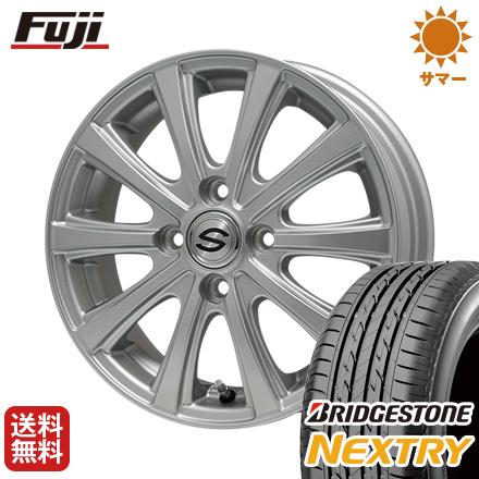 タイヤはフジ 送料無料 BRANDLE ブランドル ZN-10 4.5J 4.50-14 BRIDGESTONE ブリヂストン NEXTRY ネクストリー(限定) 155/65R14 14インチ サマータイヤ ホイール4本セット