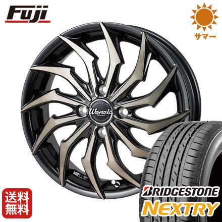 タイヤはフジ 送料無料 MONZA モンツァ ワーウィック ハーベル 4.5J 4.50-15 BRIDGESTONE ブリヂストン NEXTRY ネクストリー(限定) 165/50R15 15インチ サマータイヤ ホイール4本セット