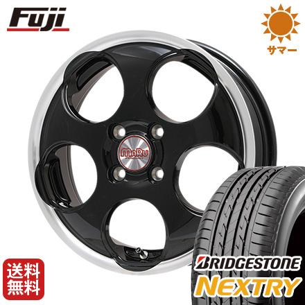 タイヤはフジ 送料無料 PREMIX プレミックス マル(ブラック/リムポリッシュ) 5J 5.00-16 BRIDGESTONE ブリヂストン NEXTRY ネクストリー(限定) 165/50R16 16インチ サマータイヤ ホイール4本セット