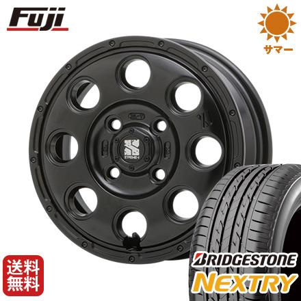 タイヤはフジ 送料無料 MLJ エクストリームJ KK03 4.5J 4.50-15 BRIDGESTONE ブリヂストン NEXTRY ネクストリー(限定) 165/55R15 15インチ サマータイヤ ホイール4本セット