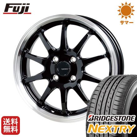 タイヤはフジ 送料無料 HOT STUFF ホットスタッフ ジースピード P-04 5J 5.00-16 BRIDGESTONE ブリヂストン NEXTRY ネクストリー(限定) 165/50R16 16インチ サマータイヤ ホイール4本セット