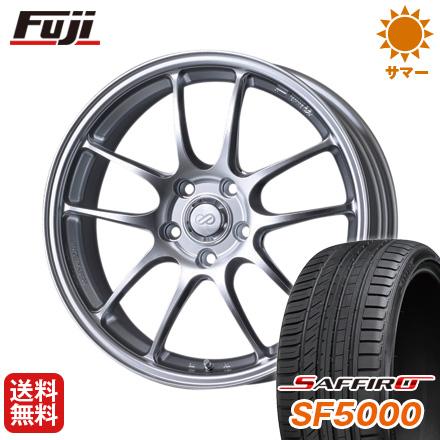 タイヤはフジ 送料無料 ENKEI エンケイ PF01 7J 7.00-17 SAFFIRO サフィーロ SF5000(限定) 215/45R17 17インチ サマータイヤ ホイール4本セット