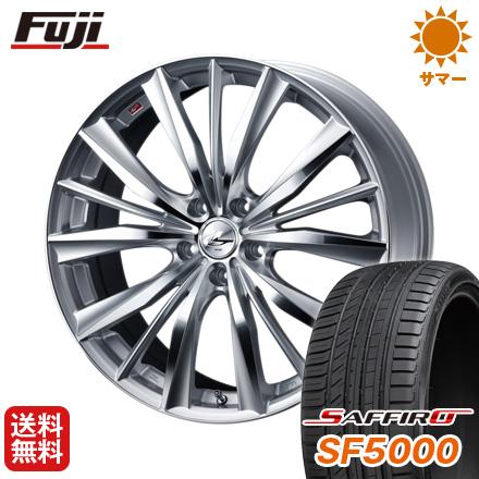 タイヤはフジ 送料無料 WEDS ウェッズ レオニス VX 7J 7.00-17 SAFFIRO サフィーロ SF5000(限定) 215/50R17 17インチ サマータイヤ ホイール4本セット