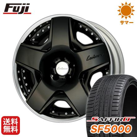 タイヤはフジ 送料無料 LORINSER ロリンザー RSK6 ブラック 8.5J 8.50-19 SAFFIRO サフィーロ SF5000(限定) 225/40R19 19インチ サマータイヤ ホイール4本セット 輸入車